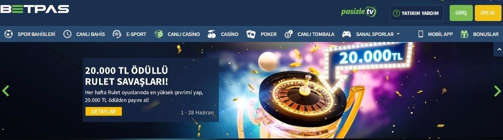 betpas casino poker-rulet-slot oyunlar-canlı bahis- canlı casino