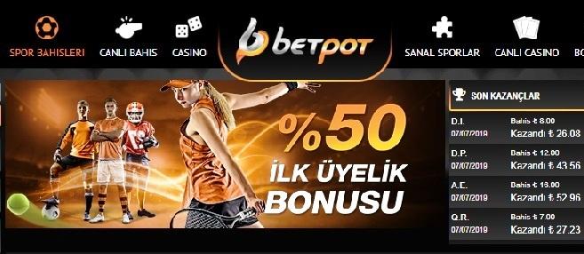 betpot bonuslar
